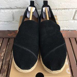 👱🏻♀️Toms Black Suede Women's Espadrilles-Size 7